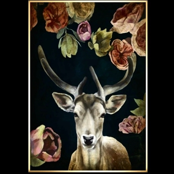 26W/37H Framed Giclee - Wild Bouquet VII - Sarah Atkinson - Gold Gallery Float