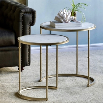 Accent Table - Eclipse Nest Marble Top 23W/24H