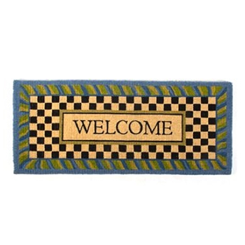 Perwinkle Welcome Door Mat