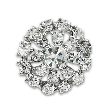 Button Crystal Rhinestone .75in