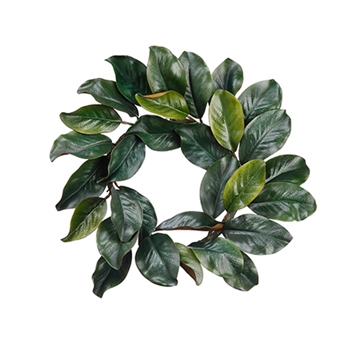 54. Green Magnolia Wreath 18in