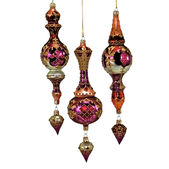 Finial Venetian Tapestry 11in