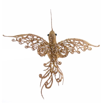 Bird Hummingbird Gold 7in