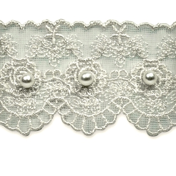 Lace Pearl Vintage Rose 1.58in