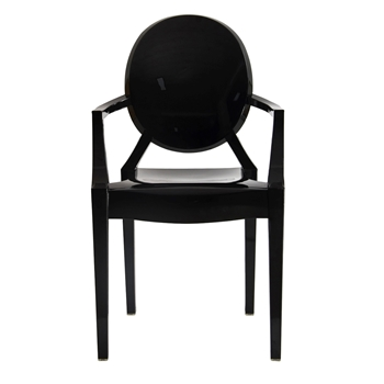 Isolde Baroque Arm Chair Black