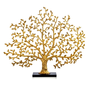 Aram Gold Tree of Life Fireplace Screen  38W/32H