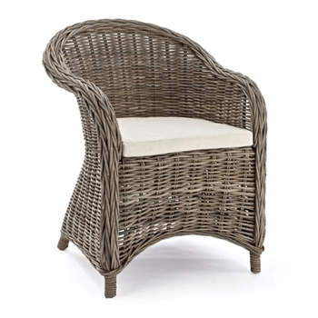 Dining Chair Normandy Rattan Grey 26W/26D/34H