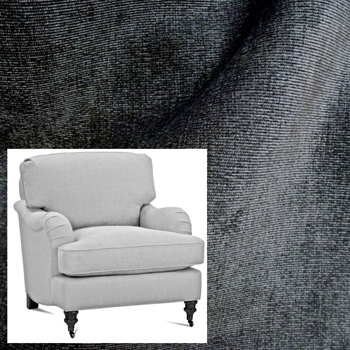 Armchair Julia Graphite Pepper Velvet 31W/37D/35H