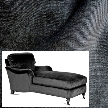 Chaise Julia Graphite Pepper Velvet 68W/33D/35H