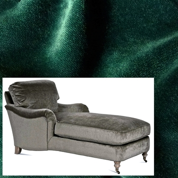 Chaise Julia Leaf Velvet 68W/33D/35H