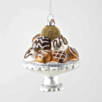 Bon Bon Ornament Glass Chocolates 4in