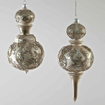 Finial Ornament Silver Baroque 7in