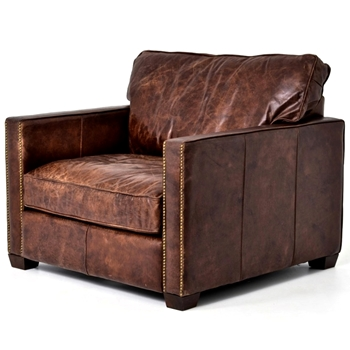 Armchair Larkin Carnegie Leather Cigar 40W/40D/35H