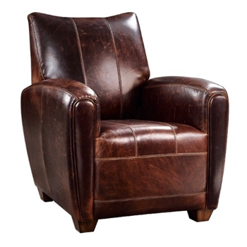 Armchair Booker Tobacco Leather 13W/30D/35H