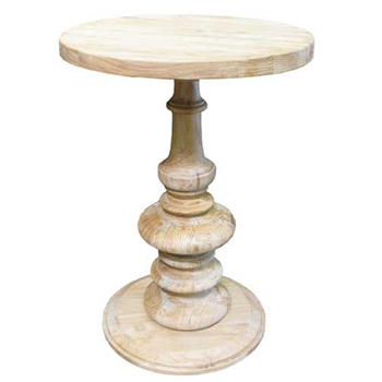 Elm Pedestal Side Table