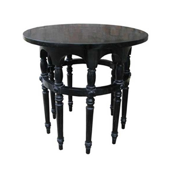 Nine Leg Black Side Table