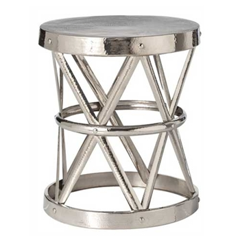 Costello Nickel Side Table