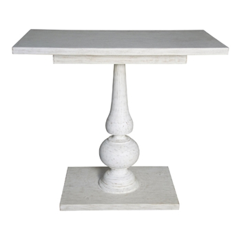 Rectangle White Wash Side Table