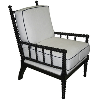Abacus Black Lounge Chair