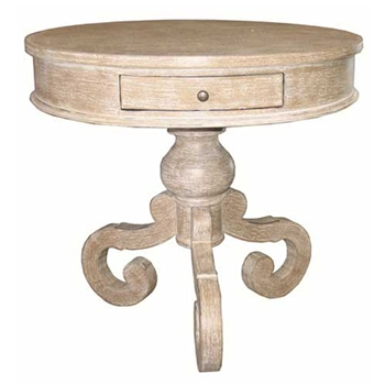 Chateau White Wash Side Table