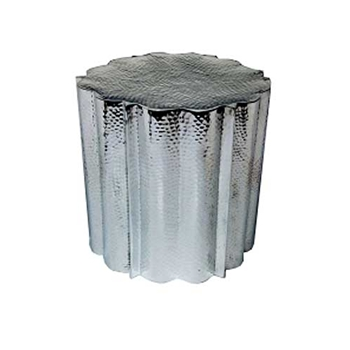Tree Trunk Aluminum Side Table
