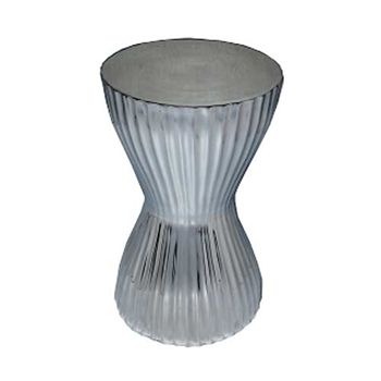 Fluted Aluminum Side Table