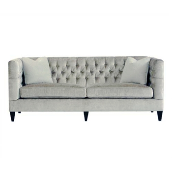 Beckett Light Grey Leather Sofa
