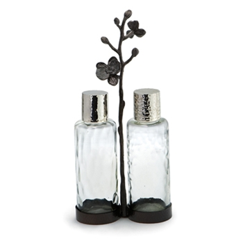 Black Orchid Nickel Cruet