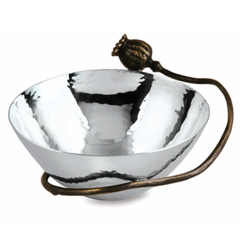 Poppy Nut Nickel Bowl