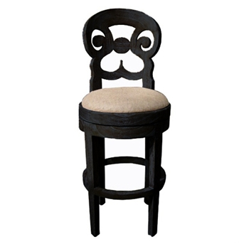 Saragossa Black Bar Stool