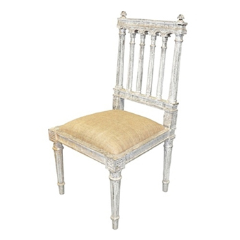 St Michel White Wash Side Chair