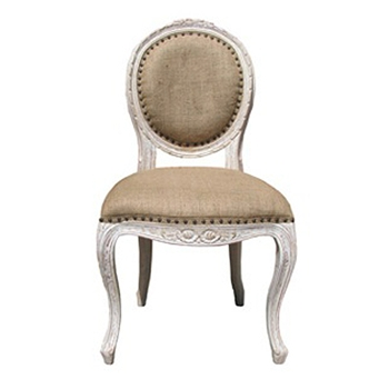 Isabelle White Wash Side Chair