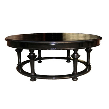 Roma Round Black Coffee Table