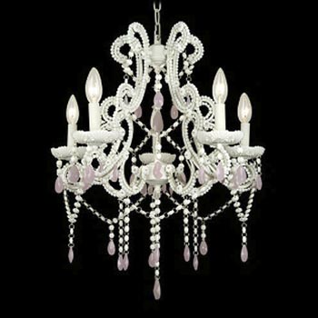 Chandelier Crystal Pink