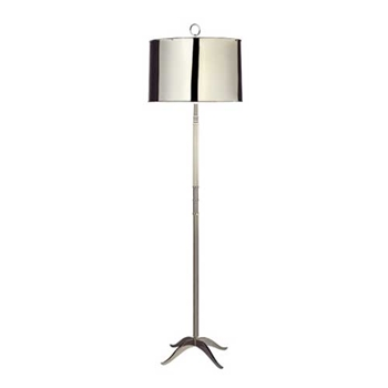Porter Shiny Nickel Floor Lamp
