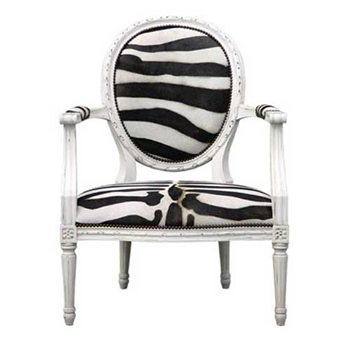 Sophie Zebra Arm Chair