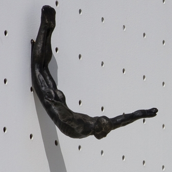 Wall Diver Bronze Hook