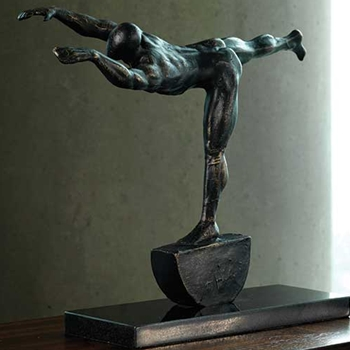 Stretch Bronze Figure
