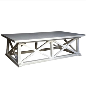 Sutton White Wash Coffee Table