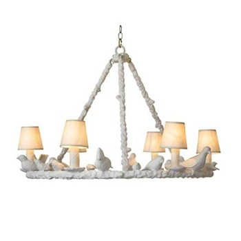 White Bird Chandelier