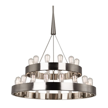 Rico Two Tier Nickel Chandelier