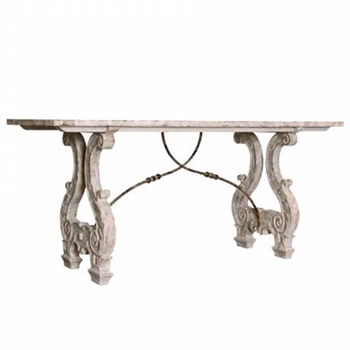 Lyre White Wash Console