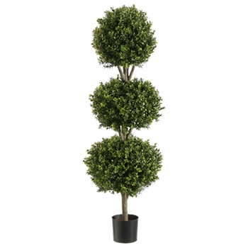 Boxwood Leaf Green Topiary/3 Ball 4ft