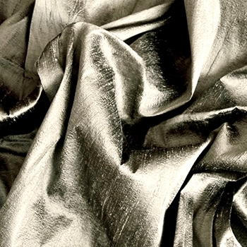 Pewter Dupione Silk