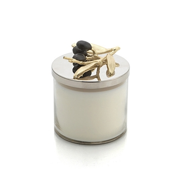 Lidded Candle - Olive Branch