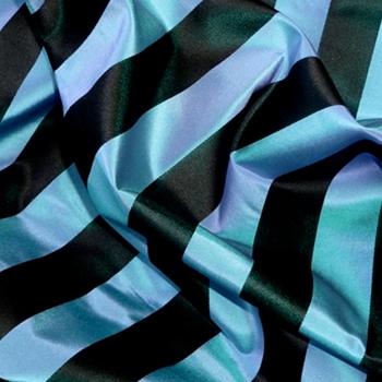39. Azure Silk Stripe Satin