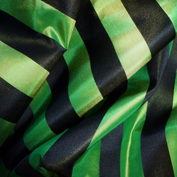 58. Peridot Silk Stripe Satin