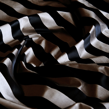12. Mocha Silk Stripe Satin