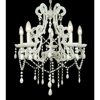 White Pearl Chandelier