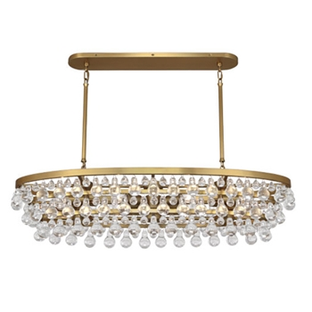 Bling Chandelier Brass 43W/19H
